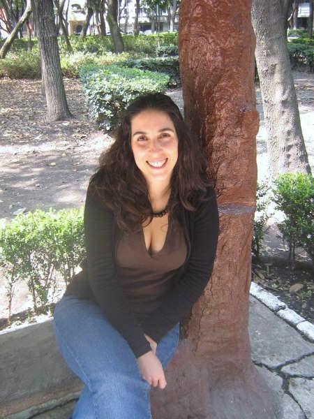 Foto durante la entrevista en el Parque México, La Condesa
