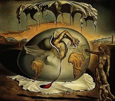 """""""Niño mirando el nacimiento de un nuevo hombre"""" de Salvador Dali"""